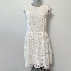 Aritzia Talula lace flutter cap sleeve dress